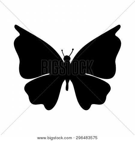 Butterfly Icon Isolated On White Background. Butterfly Icon Vector Image, Butterfly Icon In Trendy D