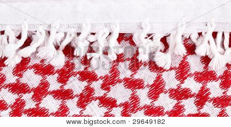 Arab keffiyeh close-up, may be used as background