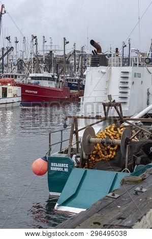 New Bedford, Massachusetts, Usa - April 13, 2019: Commercial Fishing Boat Reliance, Hailing Port Ham