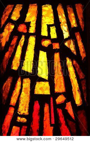 Multicolored stained glass, may be used as background