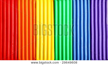 Colorful plasticine, may be used as background