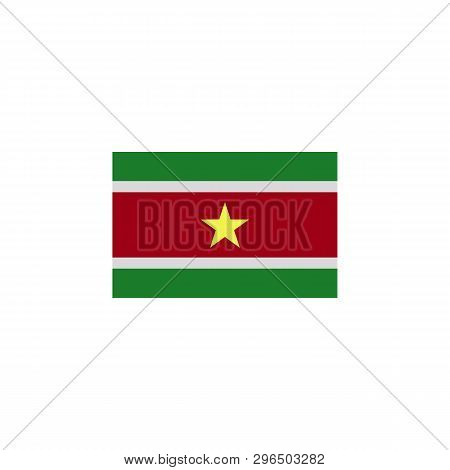 Flag Of Suriname Colored Icon. Elements Of Flags Illustration Icon. Signs And Symbols Can Be Used Fo