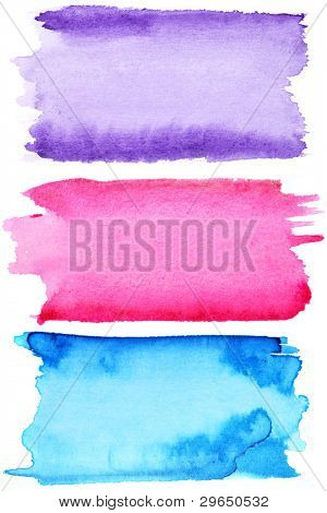 Colorful watercolor strokes - space for your own text