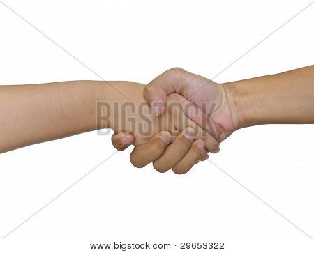 Shake hand men and women