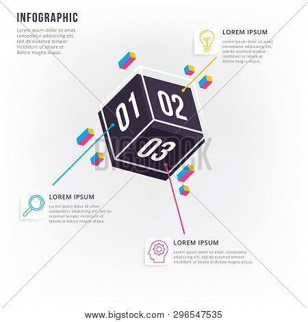 Thin Line Minimal Info-graphic Design Template. Vector Element For Info-graphic