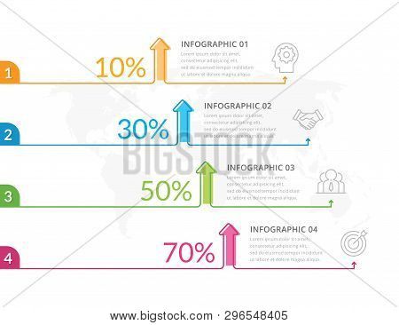 Business Graph Info-graphic, Time-line Info-graphic Template. Info-graphic Template With Option Or S