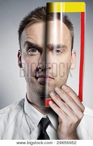 Portrait Man In A Newspaper