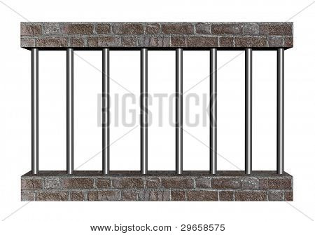 Prison bars poster