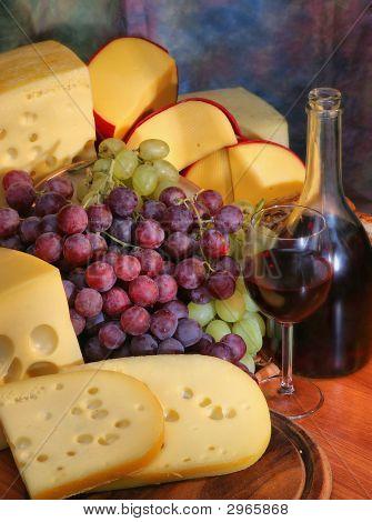 Grape, Cheese, Wine