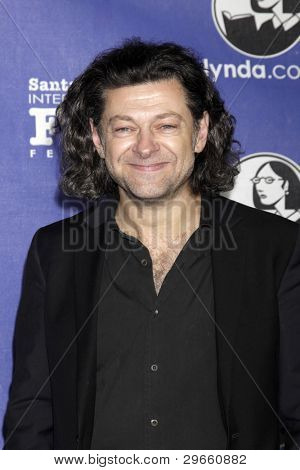 SANTA BARBARA - FEB 3:  Andy Serkis arrives at the 2012 SBIFF Virtuosos Awards at Arlington Theater on February 3, 2012 in Santa Barbara, CA