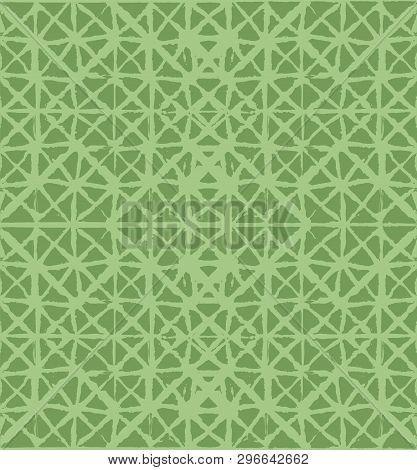 Japanese Kimono Vector Seamless Pattern, Trendy Tie Dye Organic Texture. Wabi Sabi Ikat Geo Texture,