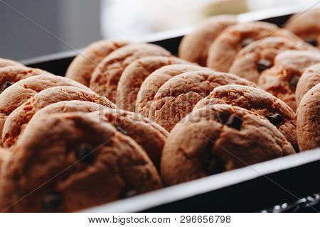 Food Catering. Delicious Fresh Cookies. Delicious Fresh Cookies. Food Catering. Close Up, Selective