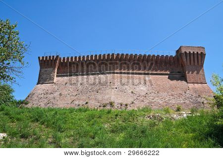 Perspective of the Venetian Fortress of Brisighella. Emilia-Romagna. Italy. poster