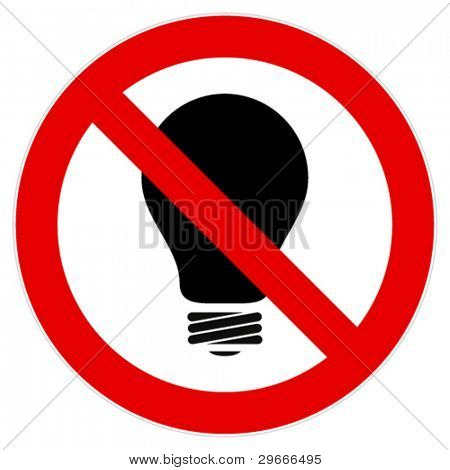 Sign calls to abandon the use of incandescent lamps.