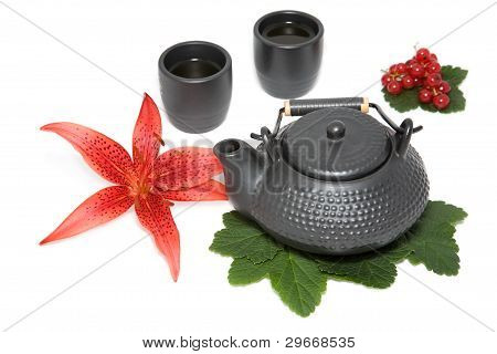 Teapot And Two Cup