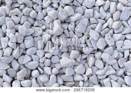 Stock Photo White Pebbles Stone Texture And Background