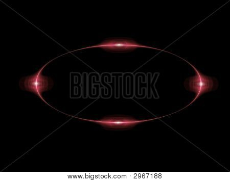 Red light frame on a black background vector poster
