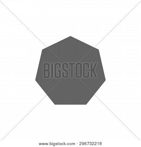 Geometric Figures, Heptagon Icon. Elements Of Geometric Figures Illustration Icon. Signs And Symbols