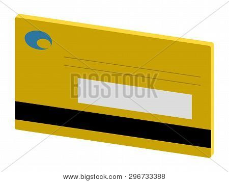 Isolated 3d Credit Card. Vector Illustration Design