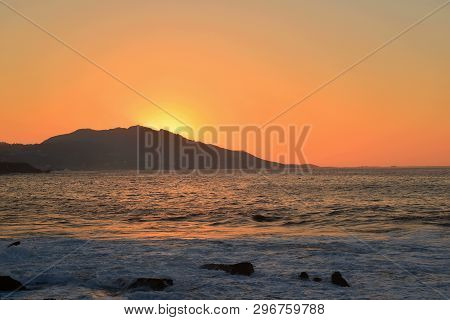 Sunset; Inspiration And Peace In Silleiro Cap, Baiona
