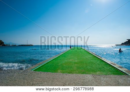 Green Pier, The Waves Beat On The Pier, The Green Road To The Sea, The Green Path To The Sea.