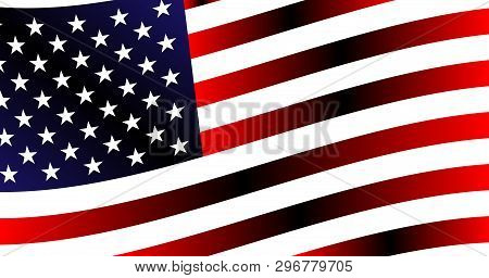 Backdrop, Beautiful Background Of The Evolving American Flag
