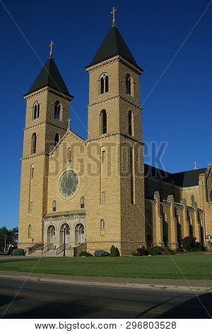 Victoria, Kansas - September 28: St. Fidelis Basilica Also Known As The Cathedral Of The Plains On S