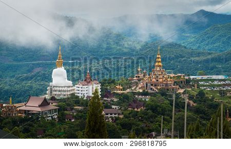 Wat Pha Sorn Kaew View From The Back Located In Petchabun Province Of Thailand.