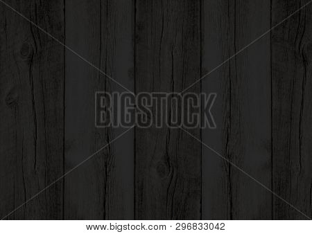 Black Wood Texture Backdrop Wall Background With Woodgrain Pattern