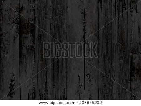 The Black Wood Texture Backdrop Wall Background