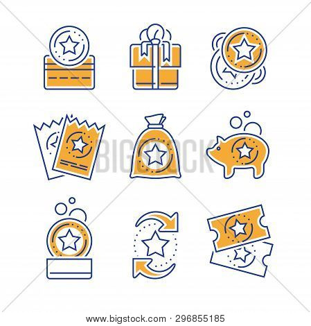 Loyalty Incentives, Bonus Card, Earn Reward, Redeem Gift, Shopping Perks, Discount Coupon, Collect C