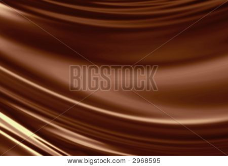 Molten chocolate background with some soft shaded areas poster