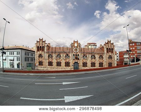 Teruel, Spain - July 21, 2018: The Provincial Historical Archive Of Teruel House, Aragon, Spain. Fis