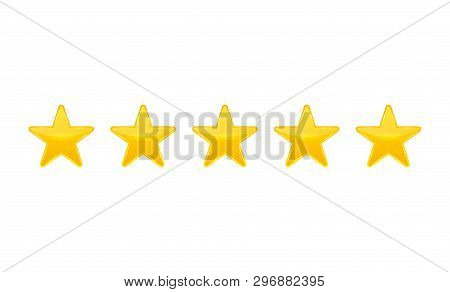 Creative Vector Illustration Of Star Rating. Vote Like Ranking Art Design. Abstract Concept Graphic