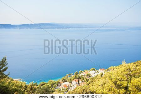 Brela, Dalmatia, Croatia, Europe - Beautiful Fishing Village At The Coastline