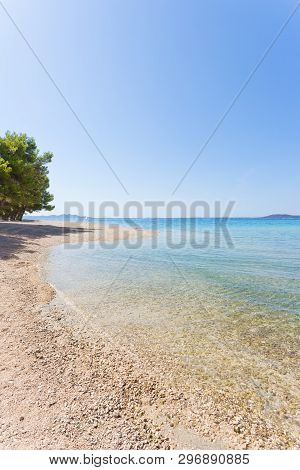 Pine Beach, Pakostane, Croatia, Europe - Nature At Its Best At The Beach Of Pakostane
