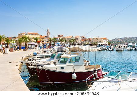 Pakostane, Croatia, Europe - Harbor And Old Town Of Pakostane