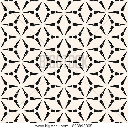 Vector Geometric Seamless Pattern With Triangles, Lattice, Grid, Mesh, Thin Lines. Stylish Modern Bl