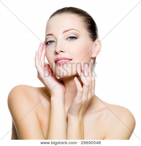 Beautiful Woman With Clean Skin Of The Face
