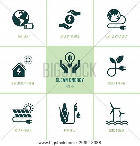 Isolated, Editable And Scalable Icons. Eco Collection With Various Icons On The Theme Of Ecology And