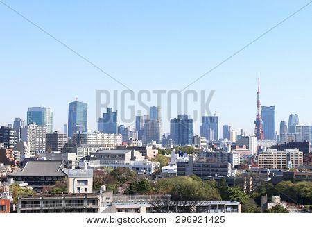 Aerial view on Tokyo, Japan
