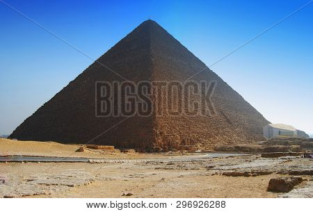 The Great Pyramid Of Cheops In Cairo, Egypt
