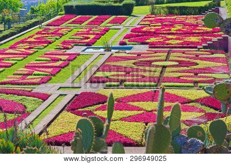 View From Above At Botanical Garden Jardim Botanico In Monte On Portuguese Island Of Madeira