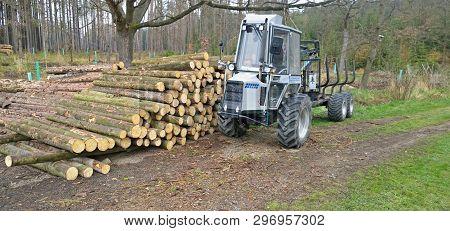 Machine For Wood Transport . South Bohemia, Czech Republic