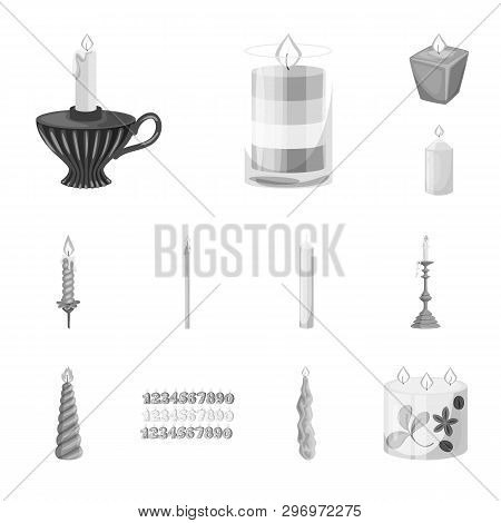 Isolated Object Of Paraffin And Fire  Symbol. Set Of Paraffin And Decoration    Stock Vector Illustr