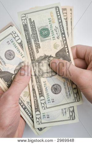 Money In Hands.