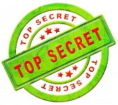 top secret icon or stamp confidential or classified information secrecy button in red text on green isolated on white poster