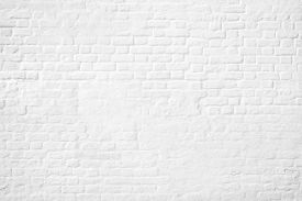 Pattern Of White Brick Wall Background. Wall White Brick Background Texture