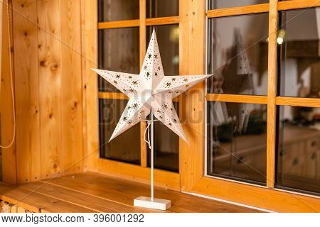 Typical Star For Lightning And Decoration During The Winter Time For Christmas. The Star Is Meant To