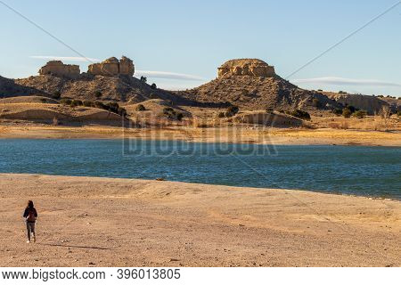 Scenic Landscape Of Lake Pueblo State Park In Southern Colorado